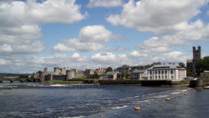 King John's Castle and Limerick City from the Shannon River