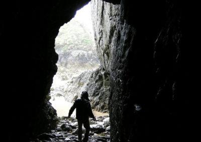 A cave on Annestown Beach