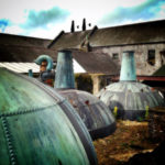 The copper stills at Kilbeggan Distillery