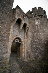 Cahir Castle gate which appeared in the film Braveheart